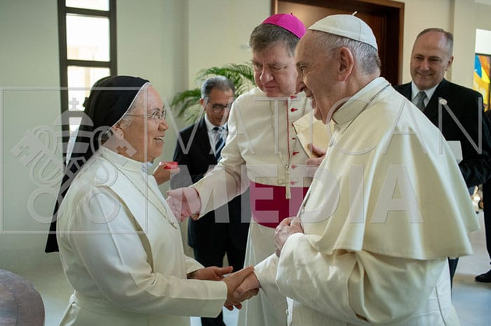 Pope Francis with Sr. Rosemary Castañeda