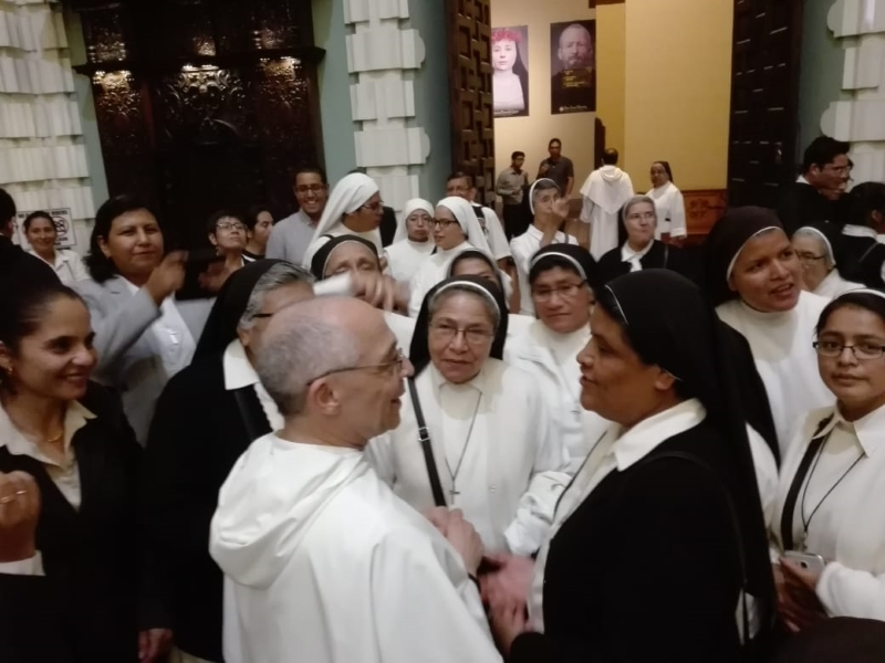 Fr. Bruno and Sr. Ofelia. Center: Sr. Juana Sarmiento, dominican sister of St. Rose of Lima