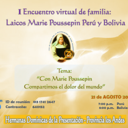 First online meeting: Marie Poussepin Laity, Perú and Bolivia